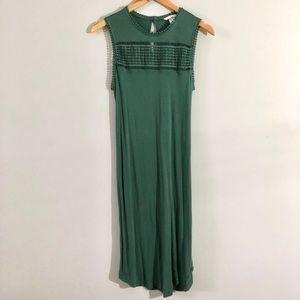 Sage shift dress